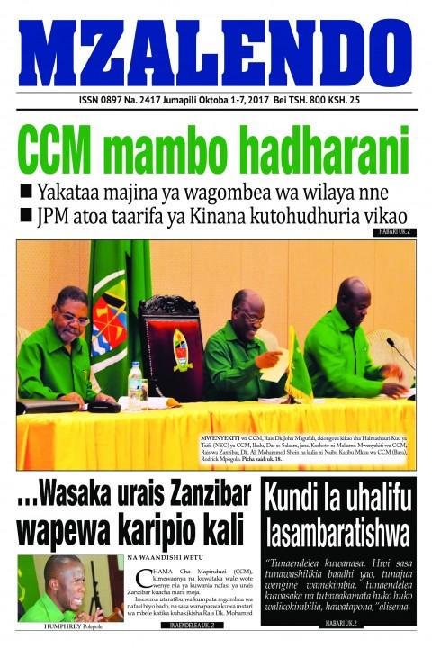 CCM mambo hadharani | Mzalendo