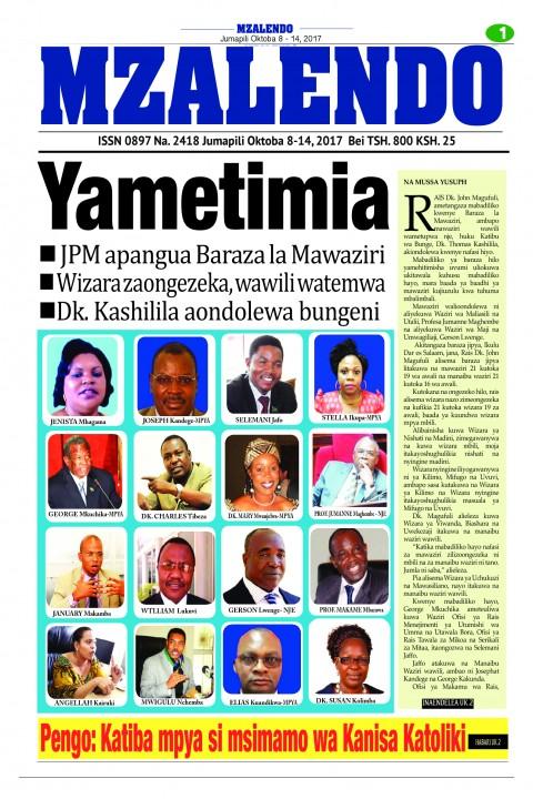 Yametimia. JPM apangua Baraza la Mawaziri | Mzalendo