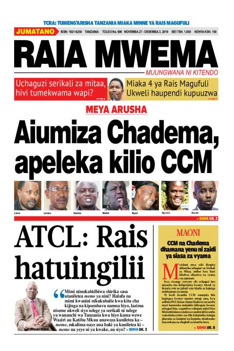 Aiumiza Chadema apeleka kilio CCM   Raia Mwema