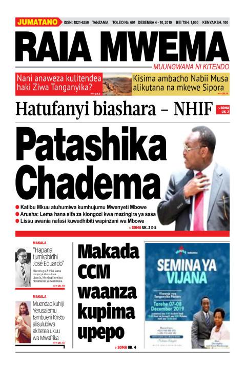 Patashika Chadema   Raia Mwema