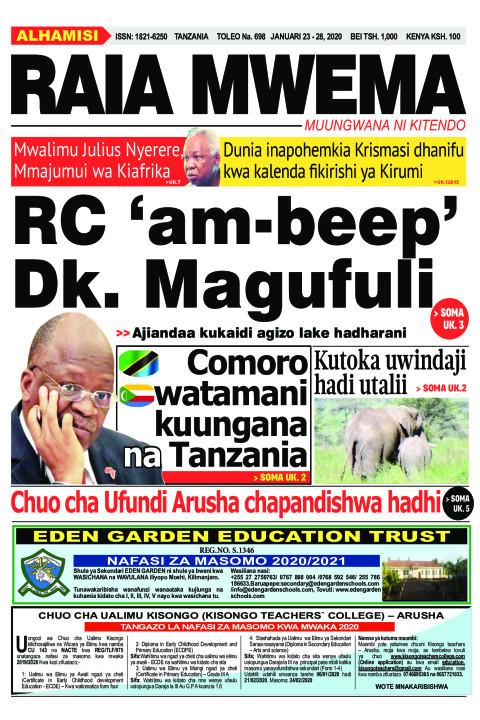 RC 'am-beep' Dk. Magufuli | Raia Mwema