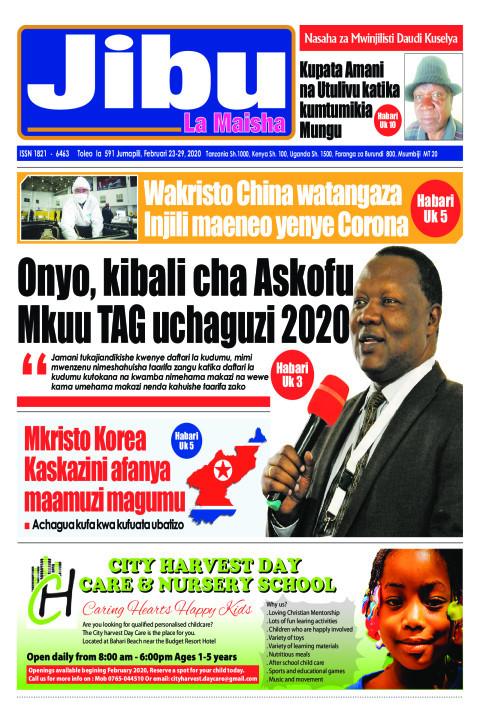 Onyo, kibali cha Askofu Mkuu TAG uchaguzi 2020 | JIBU LA MAISHA