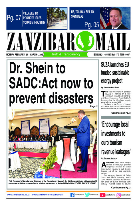 Dr. Shein to SADC: Act now to prevent disasters | ZANZIBAR MAIL