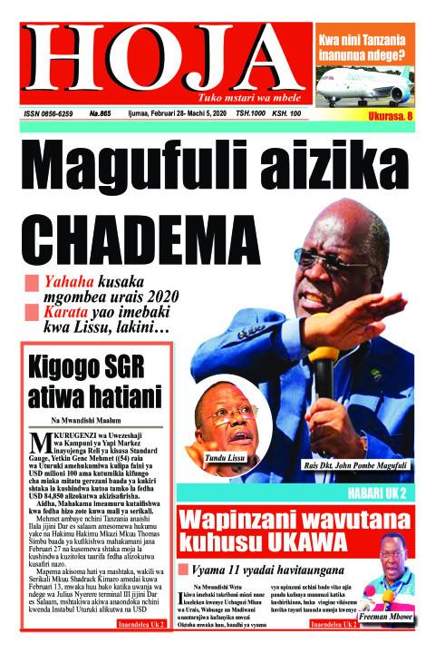 Magufuli aizika CHADEMA | HOJA