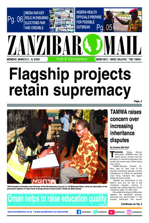 Flagship projects retain supremacy | ZANZIBAR MAIL