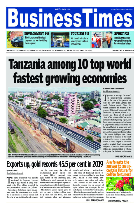 Tanzania among 10 top worlds fastest-growing economies | Business Times