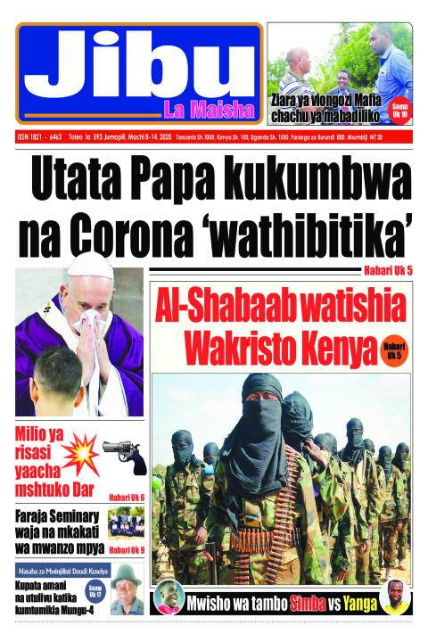Utata Papa kukumbwa na Corona 'wathibitika' | JIBU LA MAISHA