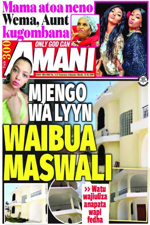 MJENGO WA LYNN WAIBUA MASWALI   AMANI