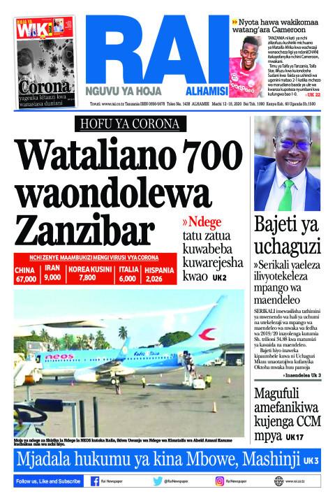 HOFU YA CORONA: Wataliano 700 waondolewa Zanzibar | Rai
