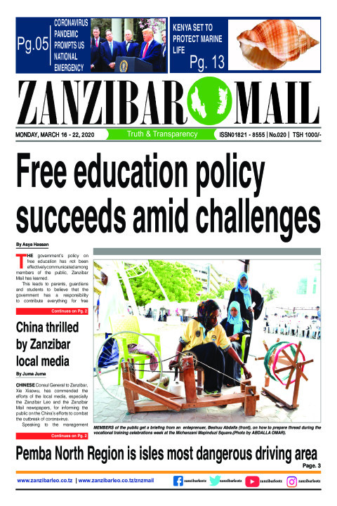 Free education policy succeeds amid challenges | ZANZIBAR MAIL