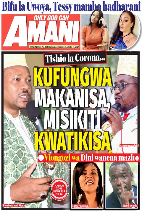 Tishio la Corona... KUFUNGWA MAKANISA, MISIKITI KWATIKISA   AMANI