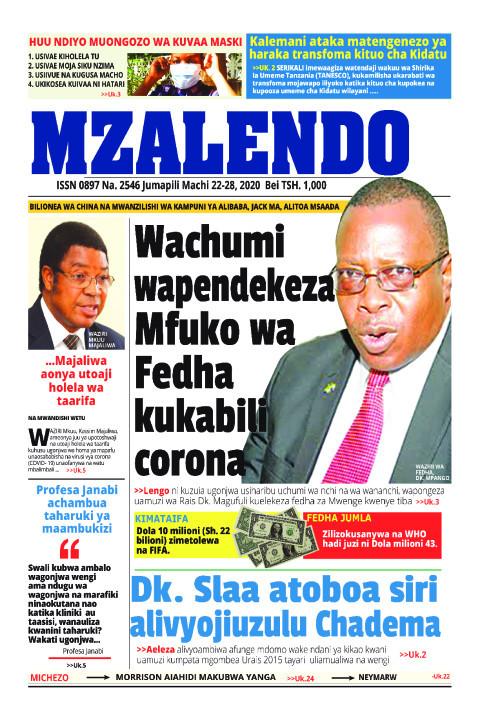WACHUMI WAPENDEKEZA MFUKO WA FEDHA KUKABILI CORONA | Mzalendo