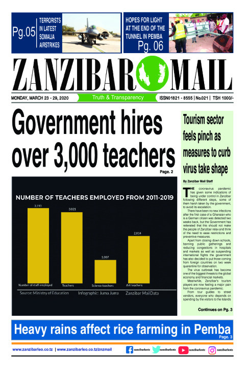 Tourism sector feels the pinch as measures to curb virus tak | ZANZIBAR MAIL