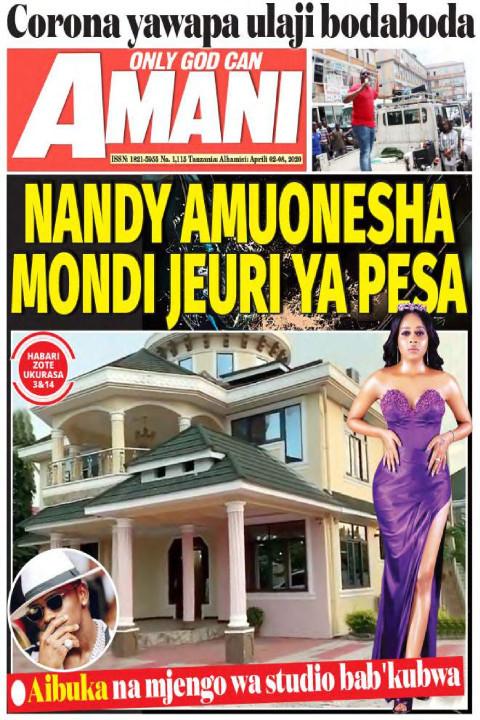 NANDY AMIUONESHA MONDI JEURI YA PESA | AMANI