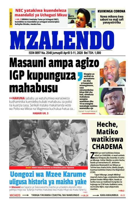 MASAUNI AMPA AGIZO IGP KUPUNGUZA MAHABUSU | Mzalendo