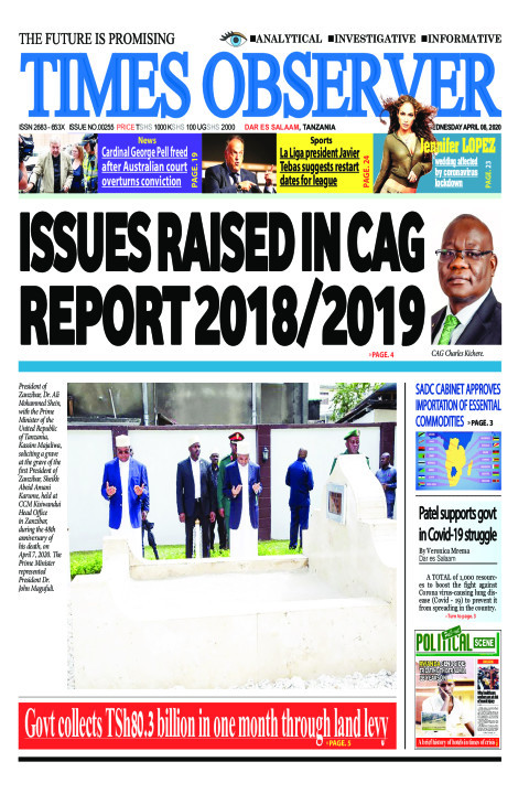 ISSUES RAISED IN CAG REPORT 2018/2019 | Times Observer