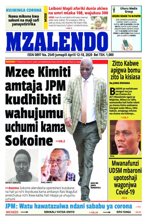Mzee Kimiti amtaja JPM kudhibiti wahujumu uchumi kama Sokoin | Mzalendo