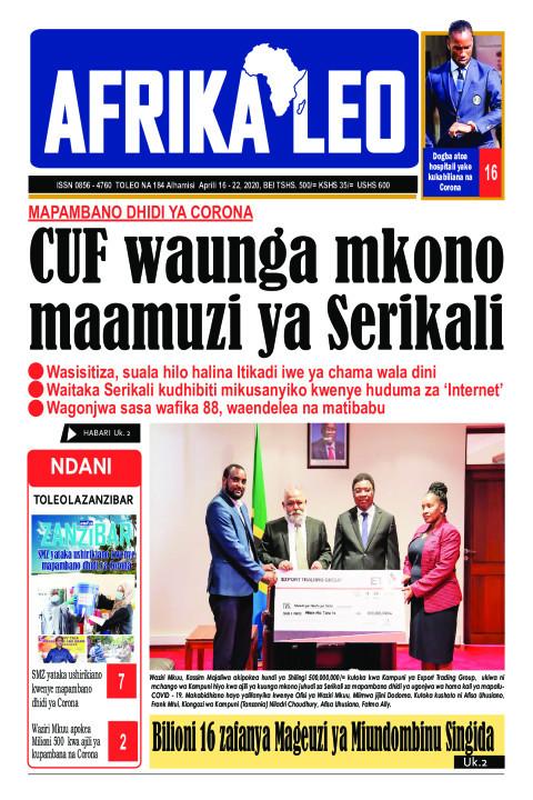 Mapambano dhidi ya Corona: CUF waunga mkono maamuzi ya Serik | AFRIKA LEO