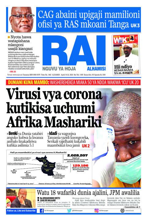 Virusi vya corona kutikisa uchumi Afrika Mashariki | Rai