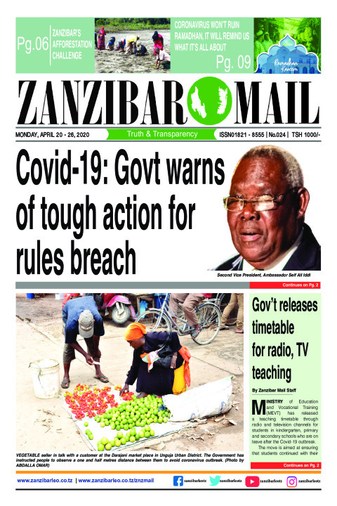 COVID-19: Government warns of tough action for rules breach | ZANZIBAR MAIL