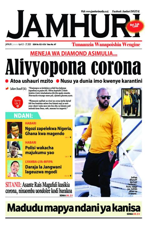 Meneja wa Diamond asimulia....Alivyopona CORONA | Jamhuri