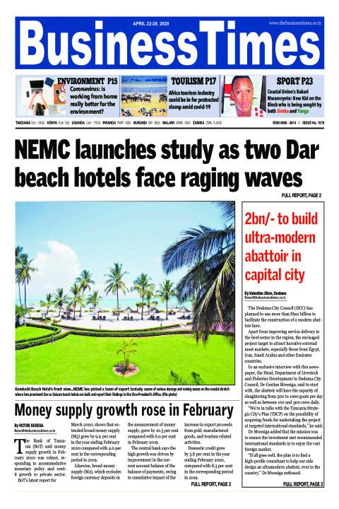 NEMC launches study as two Dar beach hotels facing raging wa | Business Times