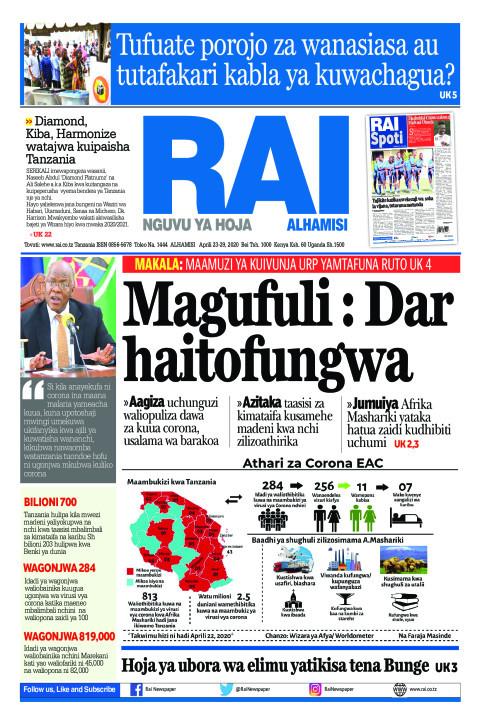 Magufuli: DAR haitofungwa | Rai