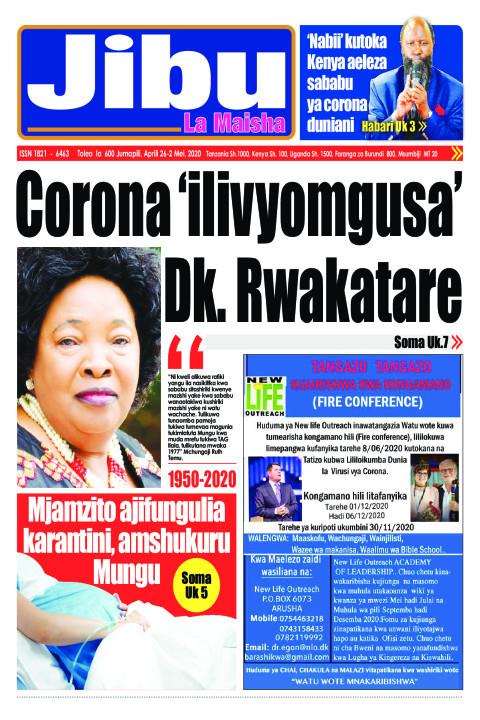 CORONA 'ilivyomgusa' Dk. Rwakatare | JIBU LA MAISHA