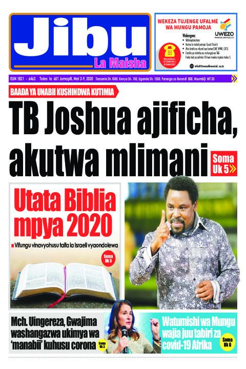 TB Joshua ajificha, akutwa mlimani.  | JIBU LA MAISHA