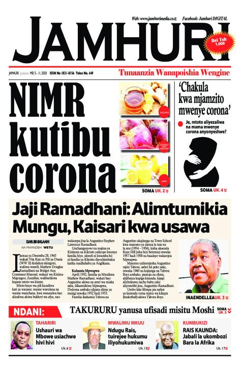NIMR kutibu Corona | Jamhuri