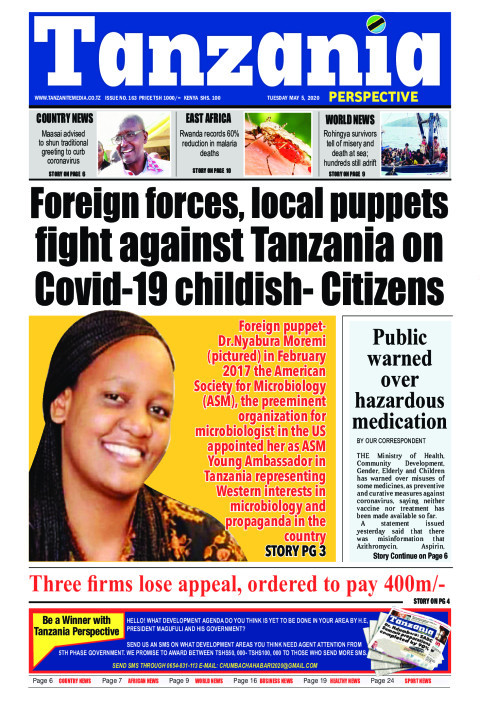 Foreign forces, local puppets fight against Tanzania on COVI | Tanzania Perspective