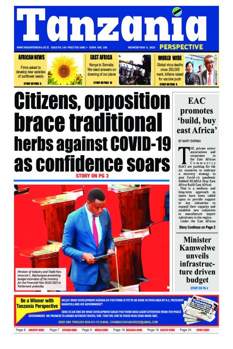 Citizens, opposition brace traditional herbs against COVID-1 | Tanzania Perspective
