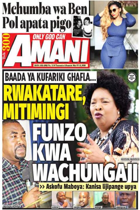 RWAKATARE, MITIMINGI FUNZO KWA WACHUNGAJI | AMANI