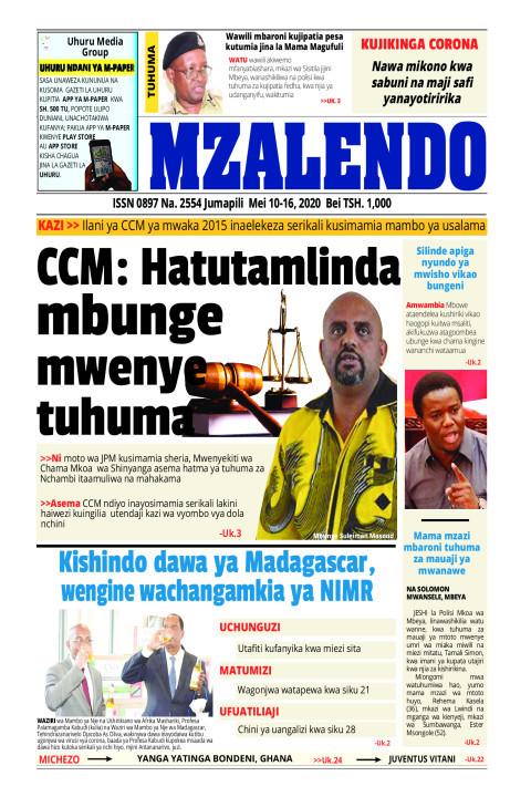 CCM: Hatutamlinda mbunge mwenye tuhuma | Mzalendo