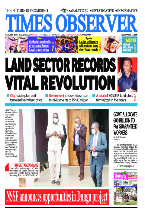 LAND SECTOR RECORDS VITAL REVOLUTION | Times Observer