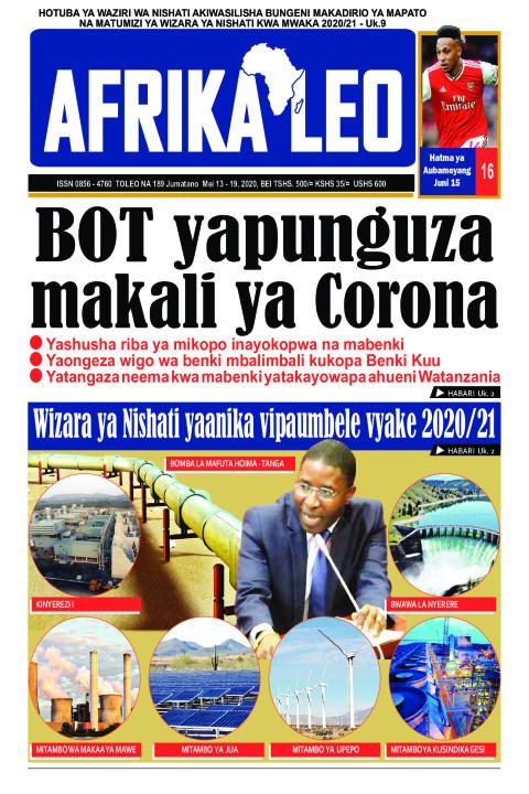BOT yapunguza makali ya Corona | AFRIKA LEO