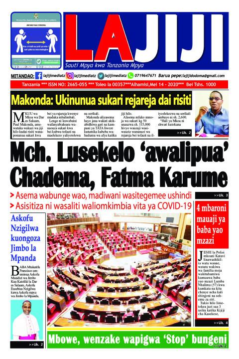 Mch. Lusekelo 'awalipua' Chadema, Fatma Karume  | LaJiji