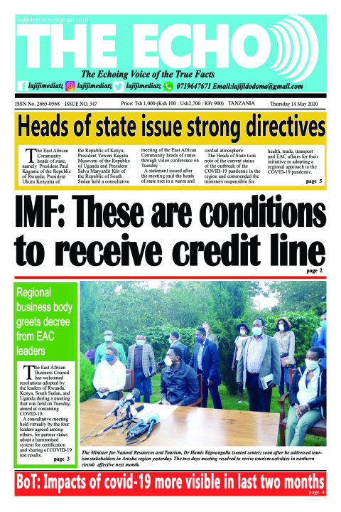 IMF: These are conditions to receive credit line   The ECHO