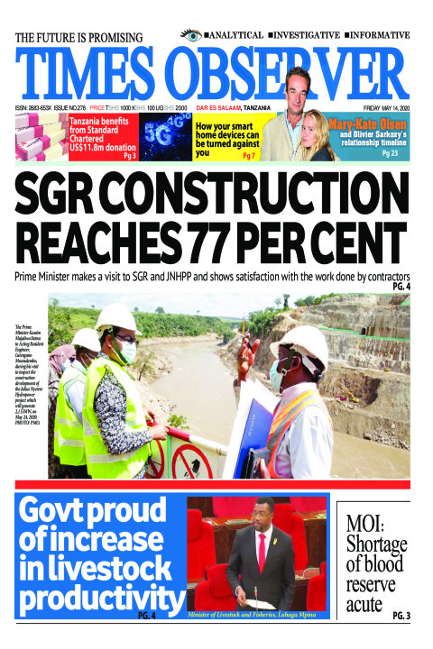 SGR CONSTRUCTION REACHES 77 PER CENT | Times Observer
