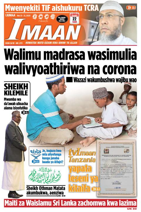 Walimu madrasa wasimulia walivyoathiriwana corona | IMAAN