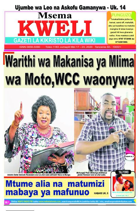 Warithi wa Makanisa ya Mlima wa Moto, WCC waonywa | MSEMA KWELI