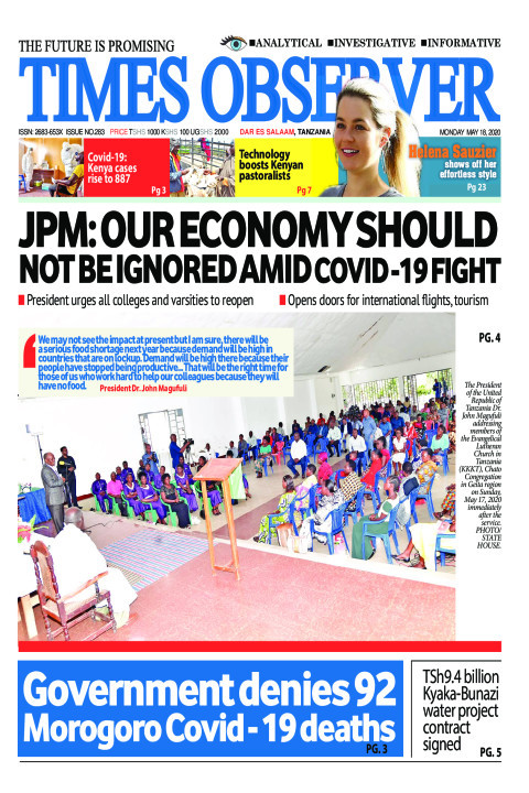 JPM: OUR ECONOMY SHOULD NOT BE IGNORED AMID COVID -19 FIGHT | Times Observer