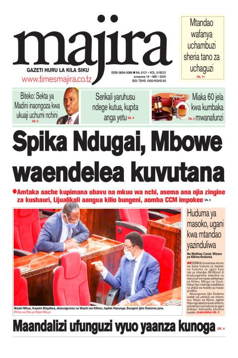 Spika Ndugai, Mbowe waendelea kuvutana   MAJIRA