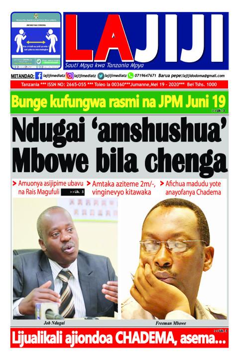 Ndugai 'amshushua' Mbowe bila chenga  | LaJiji