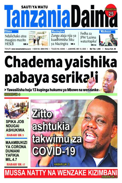 CHADEMA YAISHIKA PABAYA SERIKALI | Tanzania Daima