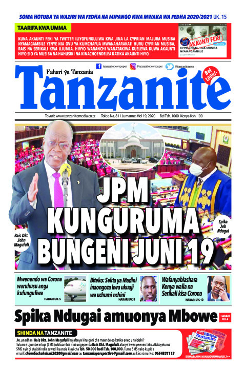 JPM kuunguruma Bungeni Juni 19 | Tanzanite