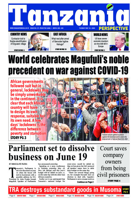 Parliament set to dissolve business on June 19 | Tanzania Perspective