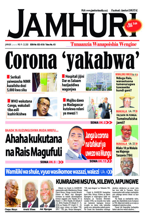 Corona yakabwa. Majibu dawa ya Madagascar kutolewa ndani ya  | Jamhuri