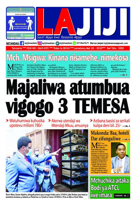 Majaliwa atumbua vigogo 3 TEMESA    LaJiji