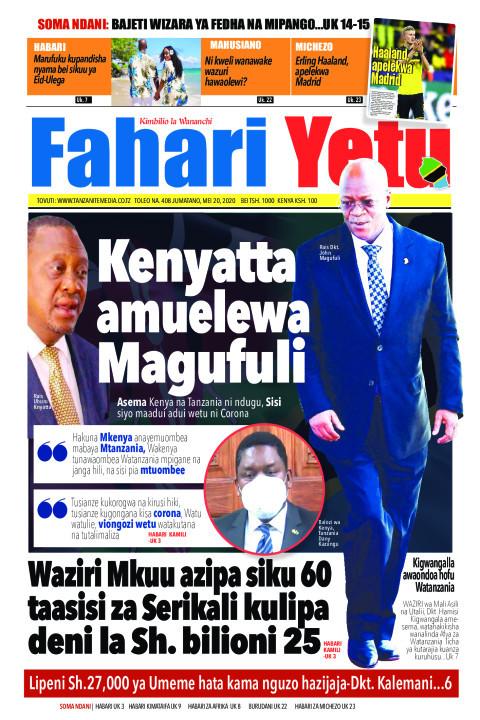 Kenyatta amuelewa Magufuli. Asema Kenya na Tanzania ni ndugu | Fahari Yetu